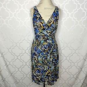 Anthropologie Moulinette Soeurs Blue Silk Dress